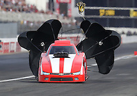 Nov 12, 2016; Pomona, CA, USA; NHRA top alcohol funny car driver Terry Ruckman during qualifying for the Auto Club Finals at Auto Club Raceway at Pomona. Mandatory Credit: Mark J. Rebilas-USA TODAY Sports
