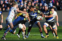 Semesa Rokoduguni of Bath Rugby takes on the London Irish defence. Aviva Premiership match, between Bath Rugby and London Irish on March 5, 2016 at the Recreation Ground in Bath, England. Photo by: Patrick Khachfe / Onside Images
