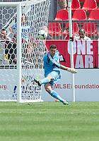 29 June 2013: Toronto FC goalkeeper Joe Bendik #12 in action during an MLS game between Real Salt Lake and Toronto FC at BMO Field in Toronto, Ontario Canada.<br /> Real Salt Lake won 1-0.