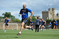 Matt Garvey of Bath Rugby in action. Bath Rugby training session on July 21, 2015 at Farleigh House in Bath, England. Photo by: Patrick Khachfe / Onside Images