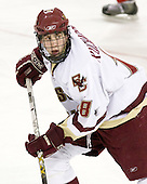 Kyle Kucharski (BC - 18) - The Boston College Eagles defeated the visiting Northeastern University Huskies 7-1 on Friday, March 9, 2007, to win their Hockey East quarterfinals matchup in two games at Conte Forum in Chestnut Hill, Massachusetts.