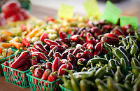 An assortment of peppers on display near Fredericksburg, Texas, Friday, July 24, 2009. (Darren Abate/pressphotointl.com)