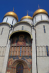 Europe, Russia, Moscow, Assumption Cathedral at the Kremlin.