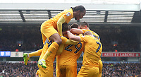 Preston North End's Tom Barkhuizen celebrates scoring his sides first goal <br /> <br /> Photographer Rachel Holborn/CameraSport<br /> <br /> The EFL Sky Bet Championship - Blackburn Rovers v Preston North End - Saturday 18th March 2017 - Ewood Park - Blackburn<br /> <br /> World Copyright &copy; 2017 CameraSport. All rights reserved. 43 Linden Ave. Countesthorpe. Leicester. England. LE8 5PG - Tel: +44 (0) 116 277 4147 - admin@camerasport.com - www.camerasport.com