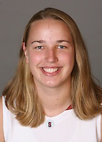 STANFORD, CA - SEPTEMBER 28:  Mikaela Ruef of the Stanford Cardinal women's basketball team poses for a headshot on September 28, 2009 in Stanford, California.