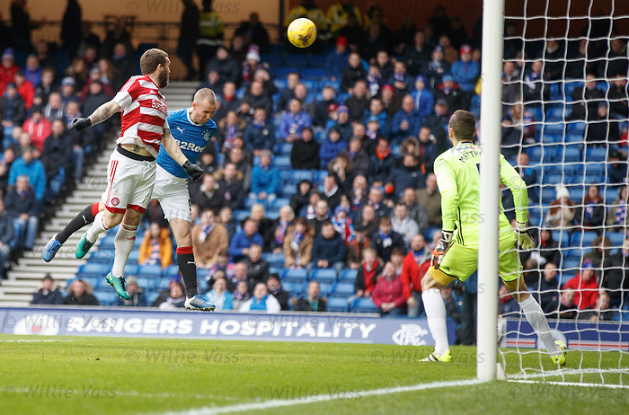 Kenny Miller goes close witrh a header