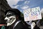Protest of Anonymous and sympathizers against ACTA treaty in Paris