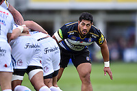 Alafoti Fa'osiliva of Bath Rugby looks on. Aviva Premiership match, between Bath Rugby and Exeter Chiefs on October 17, 2015 at the Recreation Ground in Bath, England. Photo by: Patrick Khachfe / Onside Images