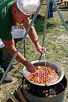 Ozporkolt ( deer porkolt) . Paprika food festival, Kalocsa. Hungary