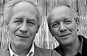 Belgian directors and brothers Jean-Pierre and Luc Dardenne, during the 2008 Cannes Film Festival. France, 2008.Their films include La Promesse, L'Enfant, Rosetta and Le silence de Lorna.