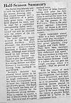 Bethel Park Blackhawks mid-season update - 1970