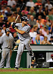 21 August 2009: Milwaukee Brewers' outfielder Ryan Braun at bat during a game against the Washington Nationals, at Nationals Park in Washington, DC. The Brewers defeated the Nationals 7-3 in the first game of their four-game series. Mandatory Credit: Ed Wolfstein Photo