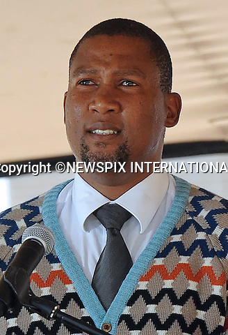05.12.2014; Pretoria, South Africa:NKOSI ZWELIVELILE MANDLA MANDELA<br /> Nelson Mandela's son, addresses guests at Freedom Park at the Nelson Mandela Day of Remembrance.<br /> Nelson Mandela, the former President of South Africa passed away on 5th December 2013.<br /> Mandatory Credit Photo: &copy;Tlape-DoC/NEWSPIX INTERNATIONAL<br /> <br /> **ALL FEES PAYABLE TO: &quot;NEWSPIX INTERNATIONAL&quot;**<br /> <br /> IMMEDIATE CONFIRMATION OF USAGE REQUIRED:<br /> Newspix International, 31 Chinnery Hill, Bishop's Stortford, ENGLAND CM23 3PS<br /> Tel:+441279 324672  ; Fax: +441279656877<br /> Mobile:  07775681153<br /> e-mail: info@newspixinternational.co.uk