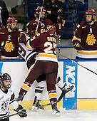 Wade Bergman (Duluth - 28), Kelly Zajac (Union - 19), David Grun (Duluth - 27) - The University of Minnesota-Duluth Bulldogs defeated the Union College Dutchmen 2-0 in their NCAA East Regional Semi-Final on Friday, March 25, 2011, at Webster Bank Arena at Harbor Yard in Bridgeport, Connecticut.