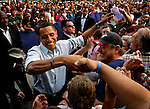 Lancaster, Pennsylvania, USA, 20080419:   The primary elections in Pennsylvania. Presidential hopeful Senator Barack Obama rallies in Lancaster..Photo: Orjan F. Ellingvag/ Dagens Naringsliv/ Corbis