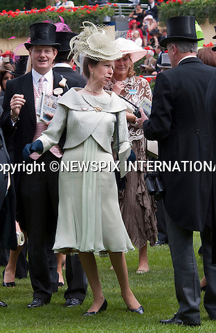 """Princess Anne, get's excited during the Gold Cup Race at Royal ascot as she .attends the Ladies Day of racing at the Royal Ascot Meeting, Ascot_18/06/2009.Mandatory Photo Credit: ©Dias/Newspix International..**ALL FEES PAYABLE TO: """"NEWSPIX INTERNATIONAL""""**..PHOTO CREDIT MANDATORY!!: NEWSPIX INTERNATIONAL(Failure to credit will incur a surcharge of 100% of reproduction fees)..IMMEDIATE CONFIRMATION OF USAGE REQUIRED:.Newspix International, 31 Chinnery Hill, Bishop's Stortford, ENGLAND CM23 3PS.Tel:+441279 324672  ; Fax: +441279656877.Mobile:  0777568 1153.e-mail: info@newspixinternational.co.uk"""