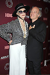 "model Carmen Dell'Orefice  and Timothy Greenfield-Sanders attends the New York Premiere of  HBO's ""About Face: Supermodels Then and Now"" on July 17, 2012 at The Paley Center for Media in New York City. This was filmed by Timothy Greenield-Sanders."