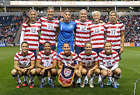 The US Starting XI.  The U.S. Women's National Team tied Germany 1-1 in a friendly at Toyota Park in Bridgeview, IL on October 20, 2012.