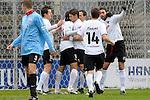 Sandhausen 05.12.2009, 3. Liga SV Sandhausen - FC Ingolstadt 04, Jubel zum 1:0 der Sandhausener<br /> <br /> Foto &copy; Rhein-Neckar-Picture *** Foto ist honorarpflichtig! *** Auf Anfrage in h&ouml;herer Qualit&auml;t/Aufl&ouml;sung. Ver&ouml;ffentlichung ausschliesslich f&uuml;r journalistisch-publizistische Zwecke. Belegexemplar erbeten.