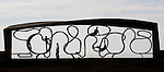 JAMES BOARDMAN / 07967642437.Children play on Britain's longest bench in Littlehampton, West Sussex..