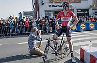Jurgen Roelandts (BEL/Lotto-Soudal) after finishing<br /> <br /> 79th Gent-Wevelgem 2017 (1.UWT)<br /> 1day race: Deinze &rsaquo; Wevelgem - BEL (249km)