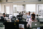 Ezra Klein, editor-in-chief at VOX Media, works at his desk in Washington DC.