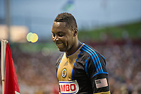CARSON, CA - July 4, 2012: Philadelphia Union forward Freddy Adu (11) during the LA Galaxy vs Philadelphia Union match at the Home Depot Center in Carson, California. Final score LA Galaxy 1, Philadelphia Union 2.