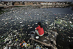 Rivers and ponds in Guiyu Town in Guangdong Province are all very severely polluted. November 25, 2005.