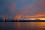 National Geographic Sea Lion.  Sunrise from the Sea Lion at Longview, Washington.