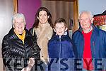 Peig Coffey, Emer Coffey, Niall Coffey and Haulie Fitzpatrick at the screening on The Dawn in Killarney Cinema on Friday night