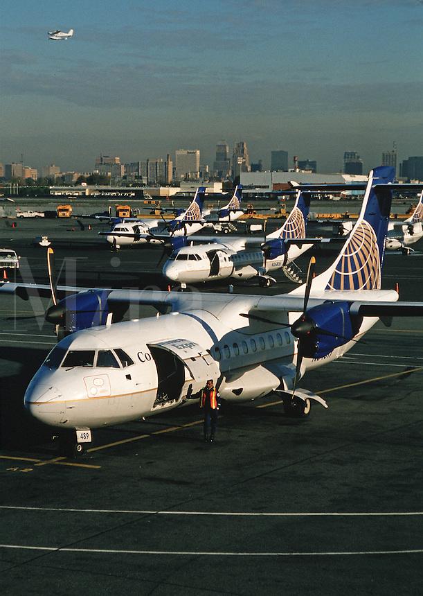 Airplanes at Newark Airport. Newark, New Jersey.