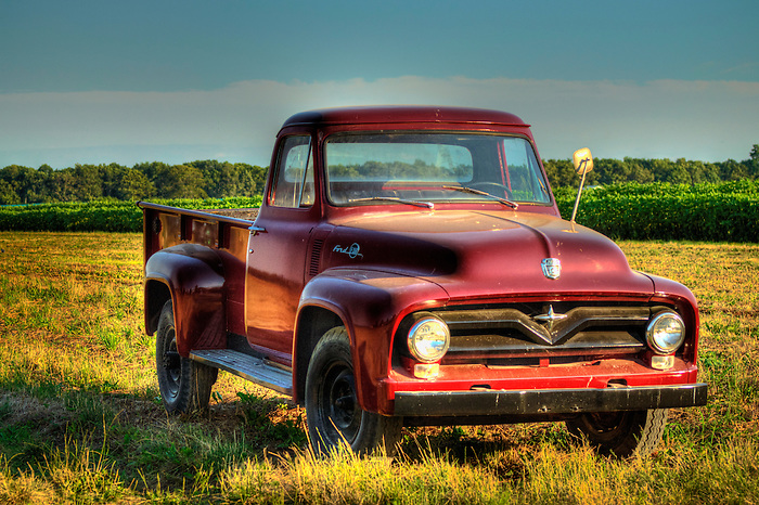 Old Ford Pick Up Truck at Sunset and Vine - Long Island Style - Found on the East Fork of Long Island in winery country