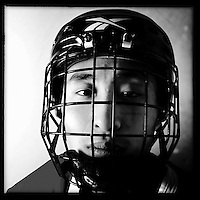 Ice Men Cometh&hellip;Zhu Xiaofeng ,19, China..An iPhone portrait series on young men competing in the 2012 IIHF Ice Hockey World Championships Division 3. The tournament  was contested by countries New Zealand, Iceland, China, Bulgaria and Turkey at Dunedin Ice Stadium. Dunedin, Otago, New Zealand. 17th January 2012. Photo Tim Clayton