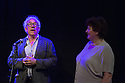 Edinburgh, UK. 08.08.2014.  The first batch of the Scotsman's Fringe First Awards are presented by Simon Callow in a ceremony at the Assembly Rooms. The award winners are: &quot;Cuckooed&quot; by Mark Thomas, produced by Lakin McCarthy in association with Traverse Theatre Company; &quot;Chef&quot; by Sabrina Mahfouz, starring Jade Anouka at Underbelly, Cowgate:<br /> &quot;The Collector&quot; by Henry Naylor at Gilded Balloon;<br /> &quot;Confirmation&quot; by Chris Thorpe and Rachel Chavkin - Northern Stage at King's Hall;<br /> &quot;Men in the Cities&quot; by Chris Goode and Company in association with Royal Court Theatre at the Traverse Theatre;<br /> &quot;Spoiling&quot; by John McCann, produced by Traverse Theatre Company at Traverse Theatre. Picture shows: Simon Callow and lead Theatre Critic for the Scotsman, Joyce MacMillan. Photograph &copy; Jane Hobson.
