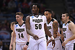 MILWAUKEE, WI - MARCH 16:  Purdue Boilermakers forward Caleb Swanigan (50) looks on after a play during the first half of the 2017 NCAA Men's Basketball Tournament held at BMO Harris Bradley Center on March 16, 2017 in Milwaukee, Wisconsin. (Photo by Jamie Schwaberow/NCAA Photos via Getty Images)