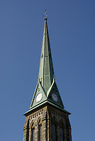 Steeple of Trinity Church in the city of Saint John, New Brunswick, Canada