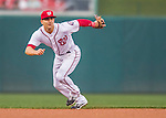 28 April 2016: Washington Nationals second baseman Danny Espinosa in action against the Philadelphia Phillies at Nationals Park in Washington, DC. The Phillies shut out the Nationals 3-0 to sweep their mid-week, 3-game series. Mandatory Credit: Ed Wolfstein Photo *** RAW (NEF) Image File Available ***