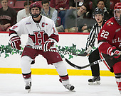 Alexander Kerfoot (Harvard - 14) - The Harvard University Crimson defeated the St. Lawrence University Saints 6-3 (EN) to clinch the ECAC playoffs first seed and a share in the regular season championship on senior night, Saturday, February 25, 2017, at Bright-Landry Hockey Center in Boston, Massachusetts.