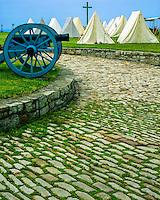 Encampment at Fort Niagara State Park, French/Indian War Reenactment, New York