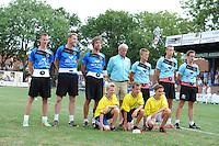 KAATSEN: LEEUWARDEN: 20-07-2014, Rengersdag, Tjisse Steenstra, Herman Sprik en Cornelis Terpstra, Menno van Zwieten, Marten Feenstra en Pier Piersma, ©foto Martin de Jong