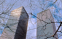 N.Y. City: World Trade Center--Sunlight on Towers.  Photo '78.