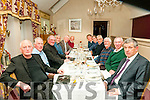 Class of 66:The class of 1966 from St Michael's College enjoying their reunion at Behan's Horseshoe Restaurant, Listowel on Saturday night last. L-R ; Joe Murphy, ......., Canon Declan O'Connor, Jerry Kiernan, Tadgh Moriarity, ............Kevin Woulfe,.........,.....,....., ... .., & Maurice O'Mahony.