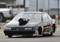 Nov 12, 2016; Pomona, CA, USA; NHRA super gas driver Clint Fishel during qualifying for the Auto Club Finals at Auto Club Raceway at Pomona. Mandatory Credit: Mark J. Rebilas-USA TODAY Sports