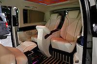 A Mercedes Benz van is exhibit at the 2015 New York International Auto Show in New York City. 04.06.2015. Kena Betancur/VIEWpress.