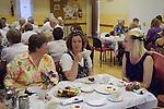 Stowey Female Friendly Society ( The Womens Walk ) Club Day. Cream tea in the Village Hall. - &pound;5.00.<br /> Nether Stowey Somerset UK 2014.