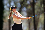 BROWNS SUMMIT, NC - APRIL 01: Wake Forest's Jennifer Kupcho tees off on the 2nd hole. The second round of the Bryan National Collegiate Women's Golf Tournament was held on April 1, 2017, at the Bryan Park Champions Course in Browns Summit, NC.