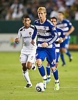 CARSON, CA – August 6, 2011: FC Dallas forward Brek Shea (20)  during the match between LA Galaxy and FC Dallas at the Home Depot Center in Carson, California. Final score LA Galaxy 3, FC Dallas 1.