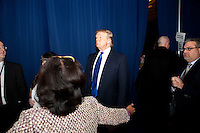 Donald Trump waits backstage before speaking at the Conservative Political Action Conference on Thursday, Feb. 10, 2011 in Washington, DC.