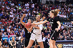 DALLAS, TX - MARCH 31:  A'ja Wilson #22 of the South Carolina Gamecocks fights for position during the 2017 Women's Final Four at American Airlines Center on March 31, 2017 in Dallas, Texas. (Photo by Justin Tafoya/NCAA Photos via Getty Images)