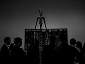 The goddess atop Alberto Giacometti's Chariot at the National Gallery of Art, Washington, DC